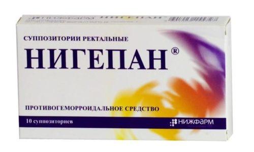 Свечи Нигепан обладают анестезирующими свойствами и предупреждают образование тромбов