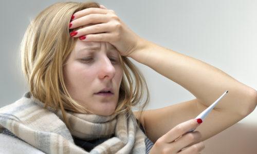 Повышение температуры тела является признаком обострения геморроя хронической формы
