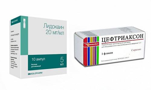 Усилить терапевтический эффект Цефтриаксона можно в сочетании с Лидокаином
