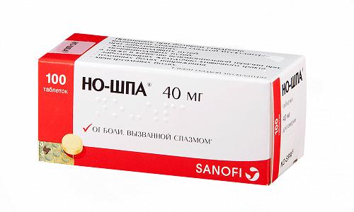 Но-шпу для снятия спазмов нужно принимать 3 раза в день по 1-2 таблетки