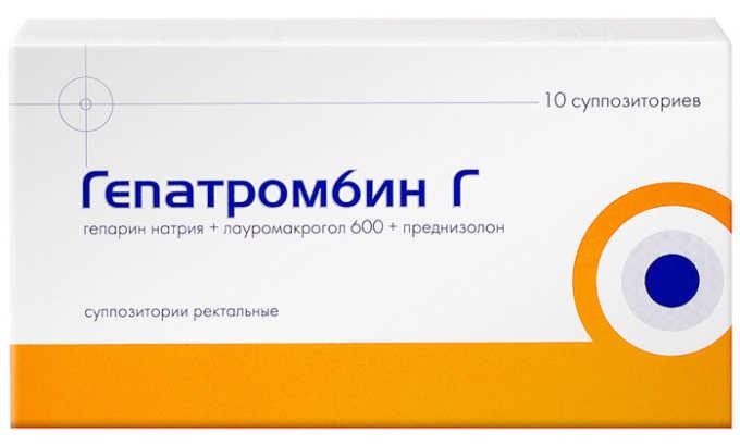 Гепатромбин Г обладает веносклерозирующим, антимикробным, противовоспалительным действием