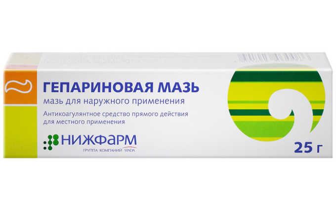 Гепариновая мазь способствуют растворению тромбов и успокаивает боли