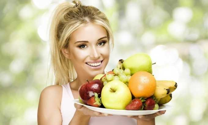 Кроме этого, больному рекомендуют сбалансировать рацион, отдав предпочтение фруктам и овощам