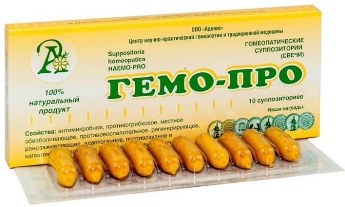 Гемо про содержат в своем составе масло облепихи, прополис, масло какао, гомеопатические компоненты