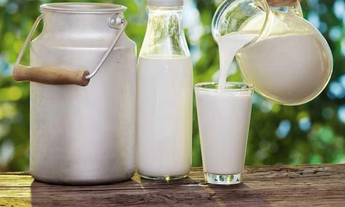 Больному следует воздержаться от употребления молока