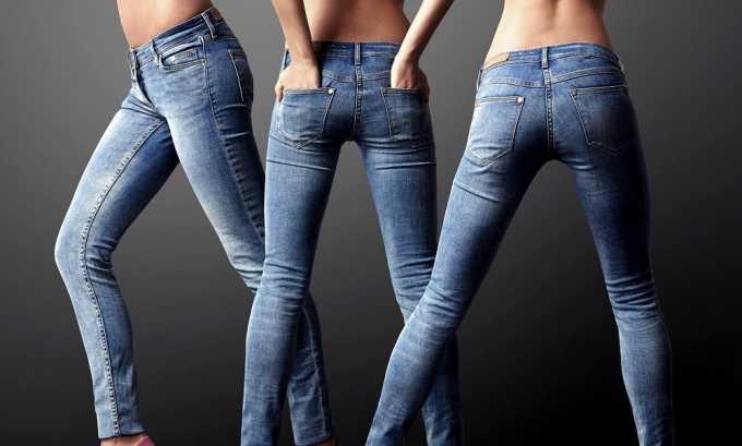 При геморрое стоит отказаться от тесных брюк и джинсов, пережимающих кровеносные сосуды малого таза