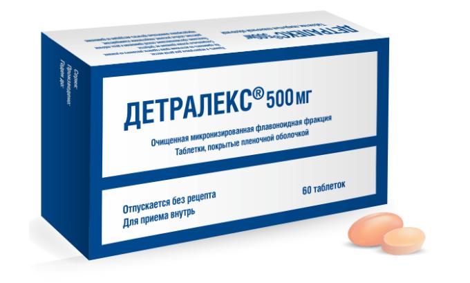 Детралекс относится к флеботропным препаратам, способствующим улучшению венозного тонуса, уменьшению застоя в венах, улучшению проницаемости сосудов