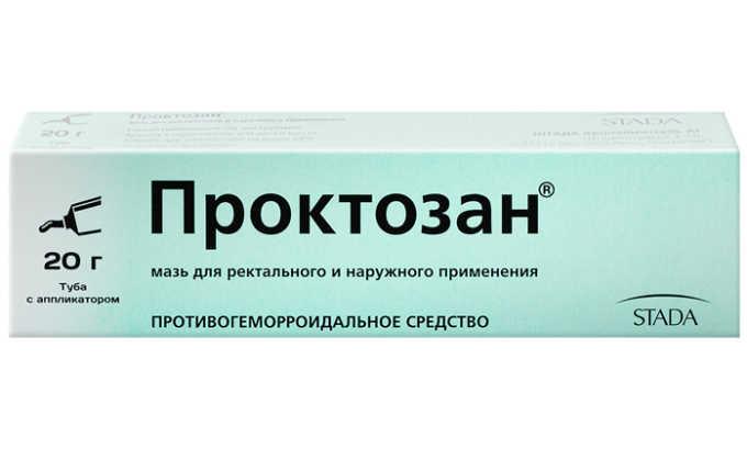 Мазь Проктозан также поможет в борьбе с геморроем