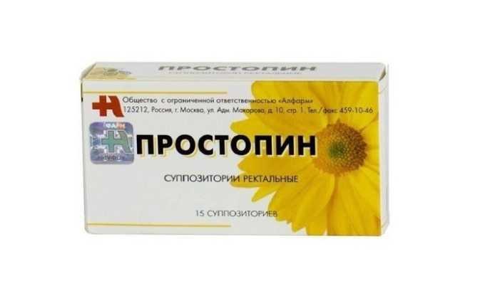 Для лечения геморроя и простатита можно использовать свечи Простопин