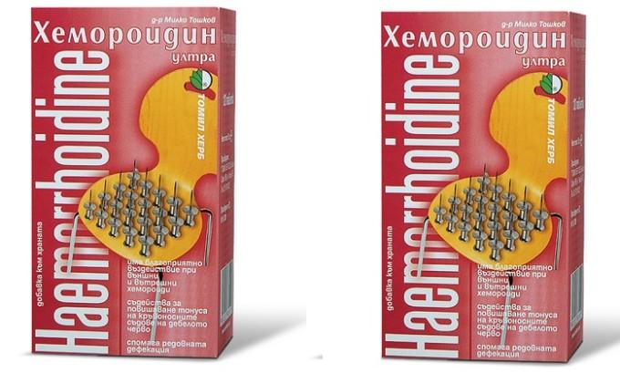 Хемороидин — препарат, относящийся к биологически активным добавкам