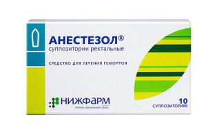 Ректальные свечи Анестезол при геморрое