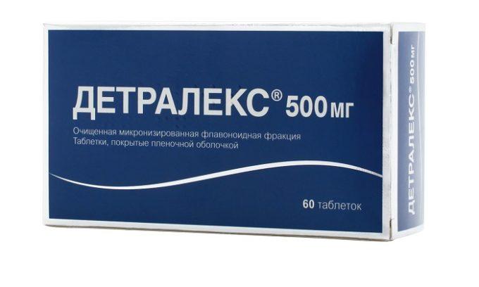 Препарат Детралекс ликвидирует застойные явления в геморроидальных сплетениях и оказывает венотонизирующее действие