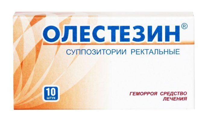 Олестезин позволяет быстро и эффективно убрать боль при геморрое, оказывает антибактериальное и противовоспалительное действие