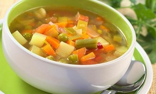 На обед разрешено готовить овощные супы