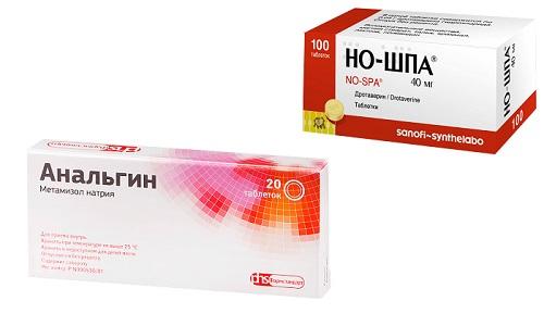 Но-шпа и Анальгин представляют собой медикаменты для снятия болевого синдрома, понижения высокой температуры