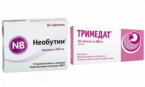 Тримедат или Необутин помогает в лечении нарушений в работе органов желудочно-кишечного тракта