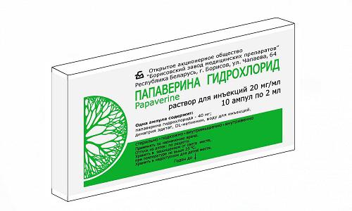 Гидрохлорид папаверина снижает кровяное давление и позволяет крови легче течь через вены и артерии