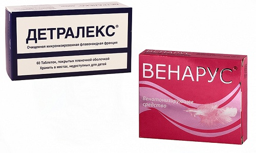 При варикозном расширении вен и других заболеваниях сосудов врачи назначают препараты Детралекс или Венарус