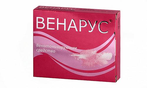 Венарус содержит гесперидин и диосмин, которые повышают эффективность средства при лечении сосудов